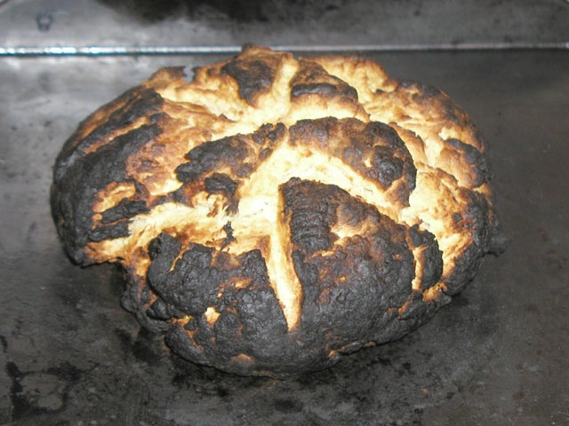 burn the bread