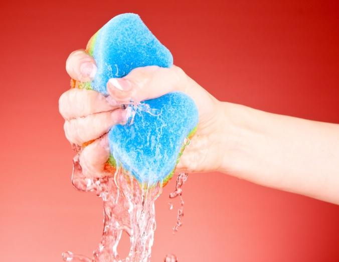 sponge water