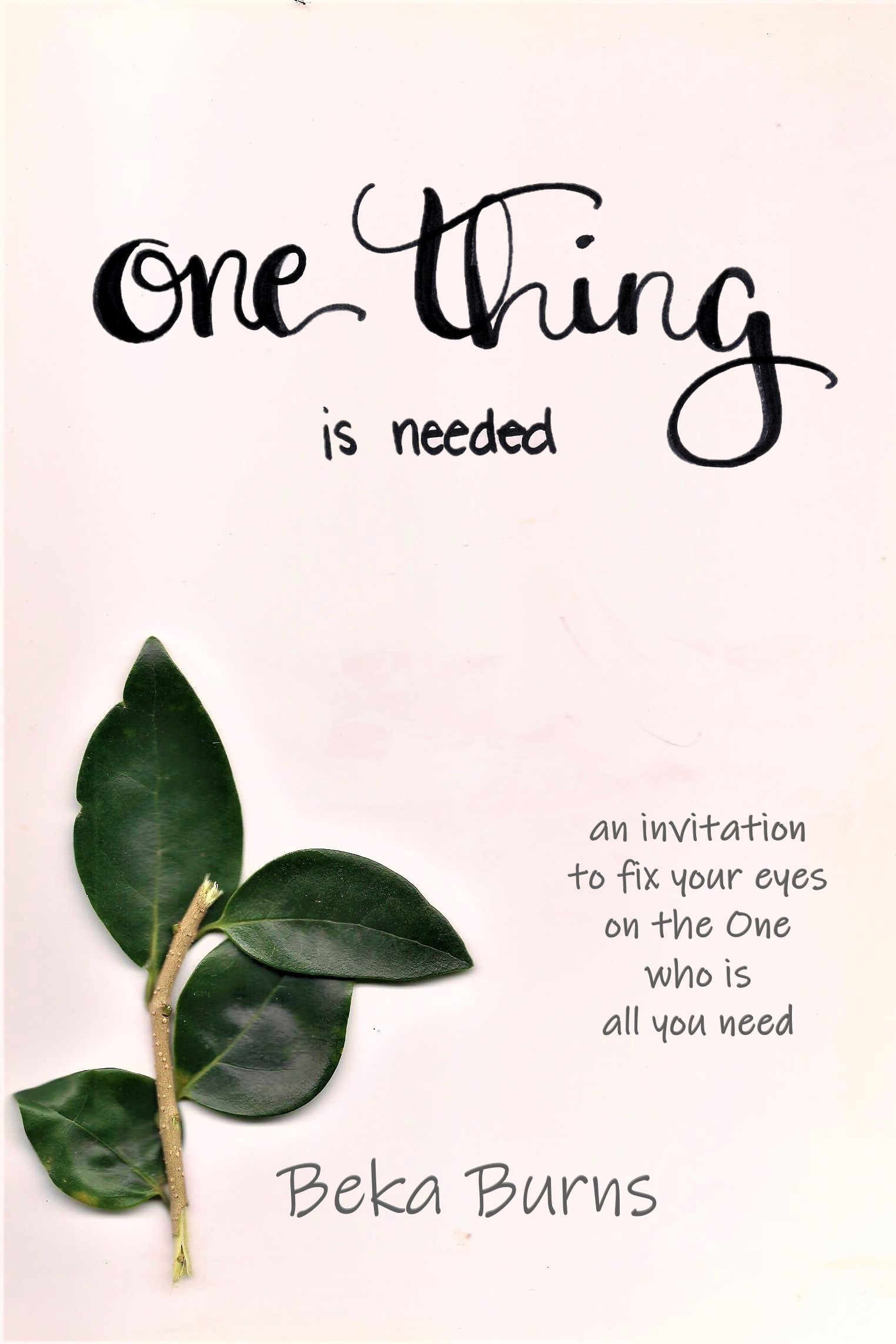 One thing is needed cover 6